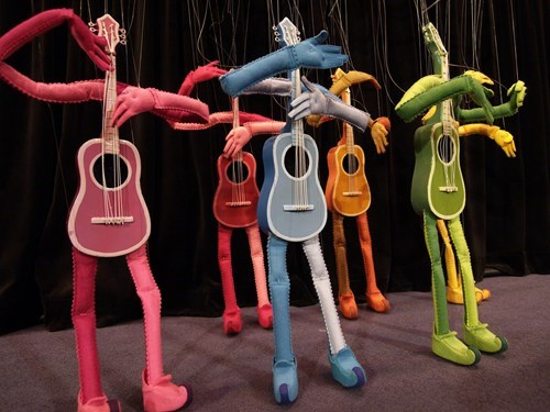 guitars,guitar puppets,puppets