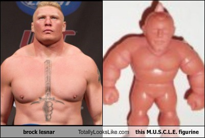 toys totally looks like funny wrestling Brock Lesnar - 7749430016