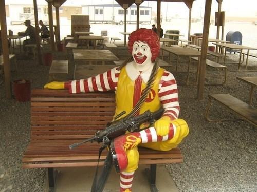 guns,Ronald McDonald,wtf,funny