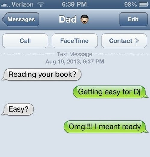 autocorrect,Awkward,text,dad,funny,AutocoWrecks