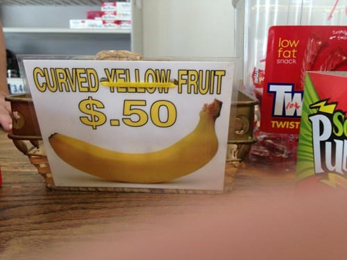 sign banana literalism funny - 7749509632