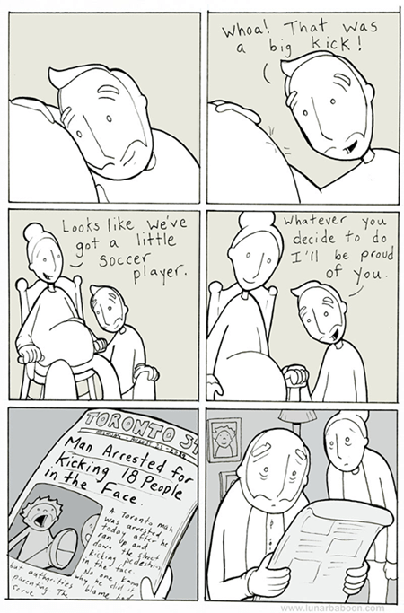 Babies,kicks,bleak,funny,the future,web comics