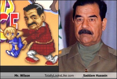 mr-wilson,totally looks like,Saddam Hussein