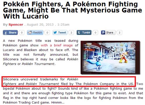 Pokémon news rumors pokkén fighters hype - 7751232000