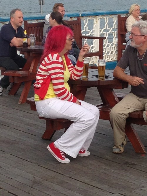 Ronald McDonald,cosplay,genderbent,accident,poorly dressed,g rated