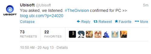 Ubisoft twitter Video Game Coverage Gamescom 2013 - 7751779584