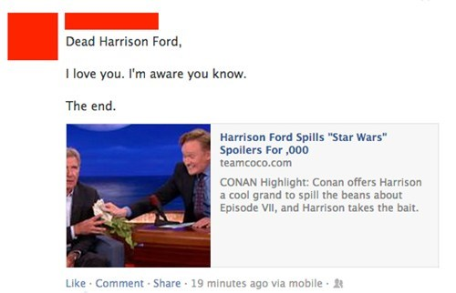 conan obrien,Harrison Ford