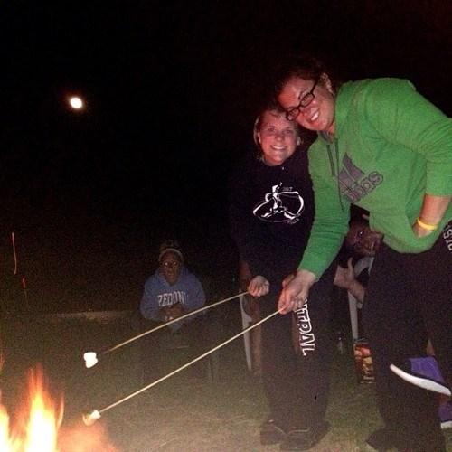 campfire,photobomb,funny