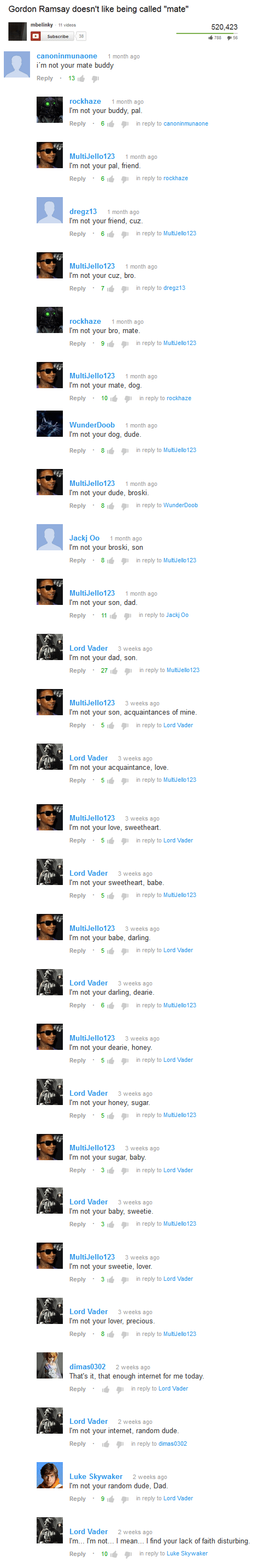 star wars gordon ramsay youtube comments darth vader - 7751936768