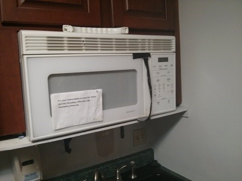 duct tape funny microwave there I fixed it - 7751940608
