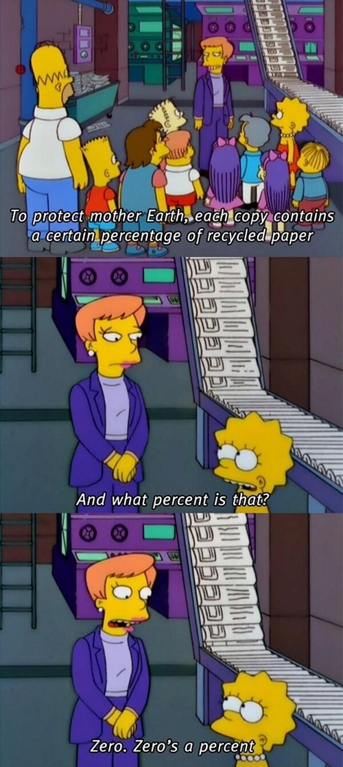 recycle percentage simpsons Statistics - 7751940864