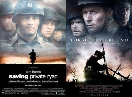 forbidden ground,movies,totally looks like,saving private ryan
