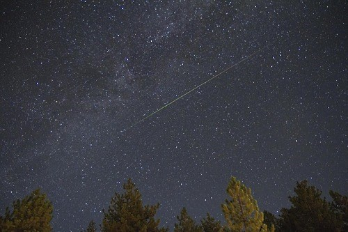 A Perseid Meteor Lights Up the Atmosphere