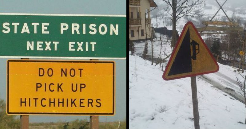 weird funny signs