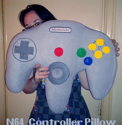 Pillow nerdgasm DIY video games funny