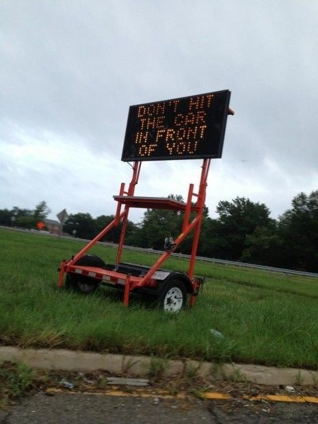 sign pro tip driving hacked funny