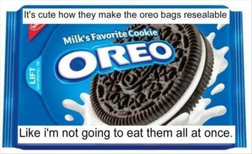 packaging Oreos shame