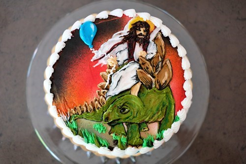 cake birthday food funny dinosaurs - 7752480768