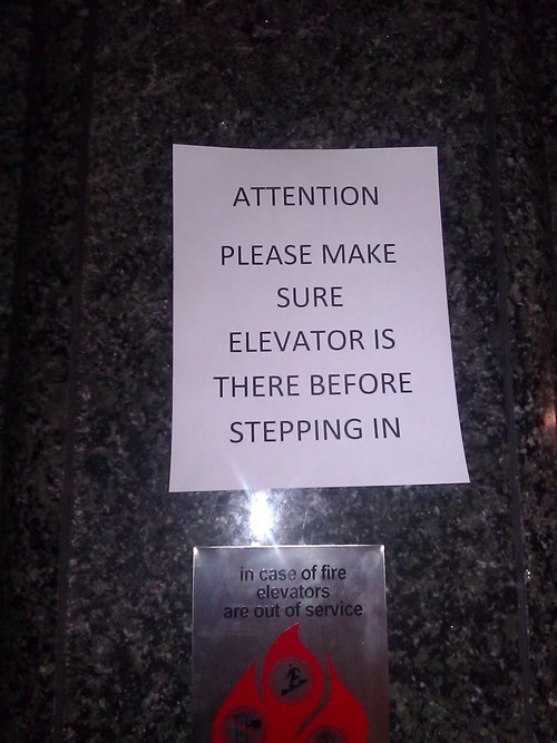 sign elevator bad idea funny fail nation g rated - 7752481536