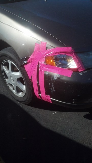 repair,cars,duct tape,funny,there I fixed it