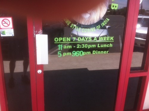 sign restaurant hours funny there I fixed it - 7752524288