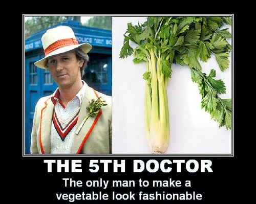 classic who,5th doctor,celery