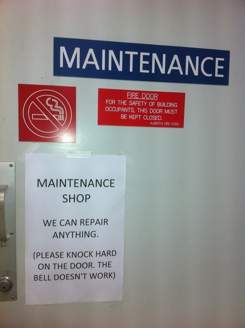 sign,repairs,irony,funny