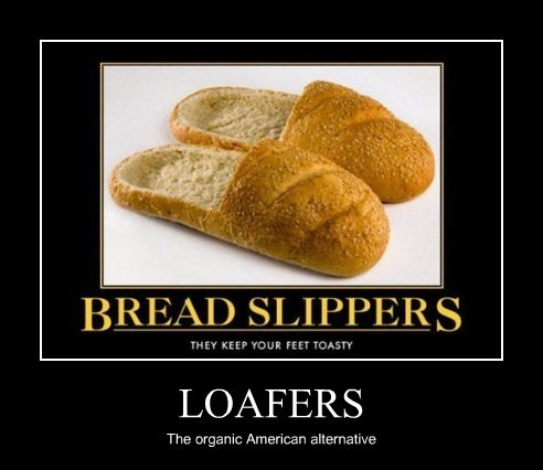 loafers slippers bread funny - 7753352192