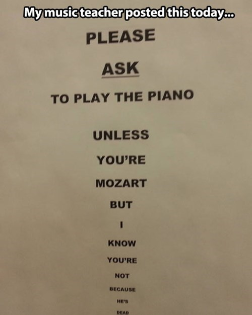 piano teacher zombie mozart - 7753475328