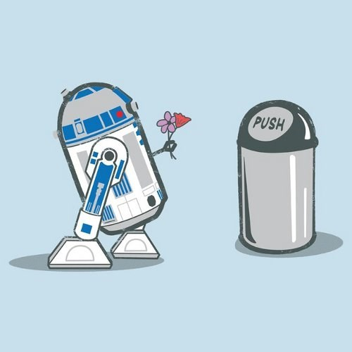 star wars r2-d2 garbage can love - 7753537536