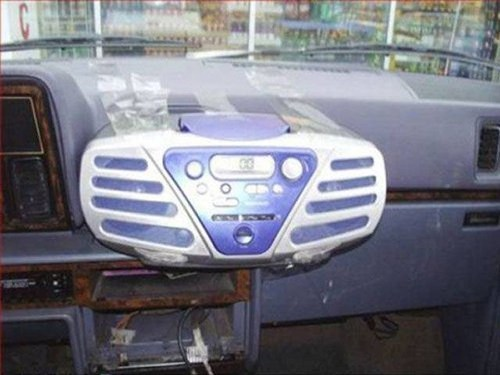 radio,cars,tape,there I fixed it,funny