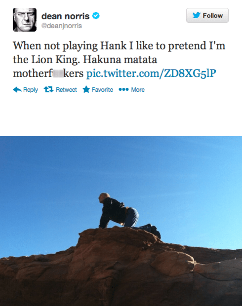 dean norris the lion king twitter breaking bad celeb - 7753653248