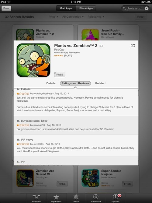 reviews plants vs. zombies 2 - 7753756416