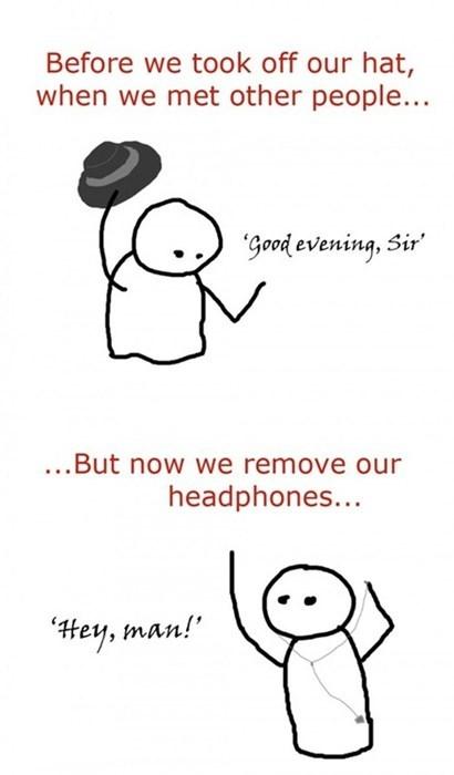 manners greetings headphones - 7753800448
