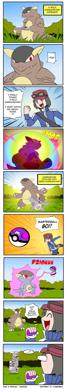 kangaskhan,mega kangaskhan,comics