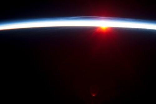 ISS sunrise science space - 7753882624