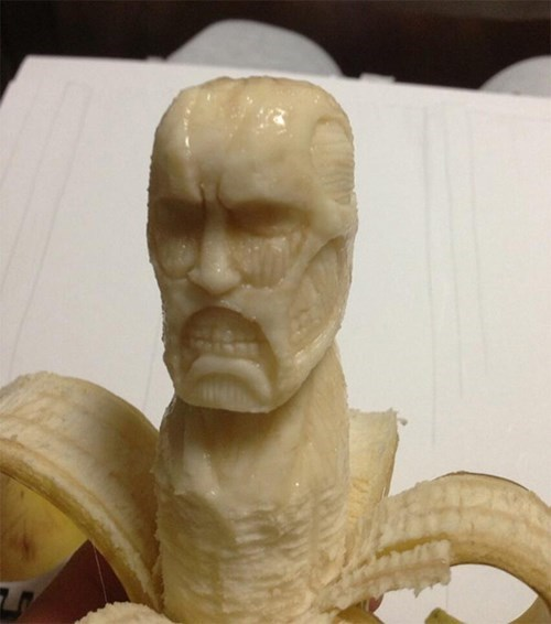 anime,bananas,attack on titan