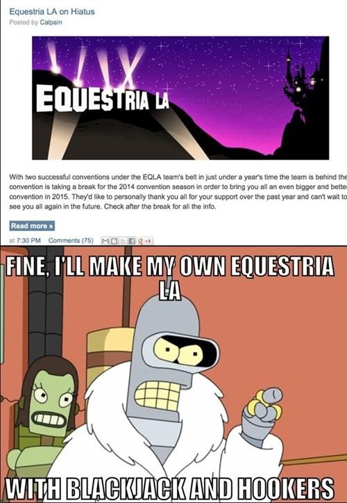 conventions,futurama,equestria LA
