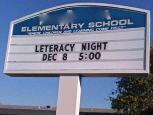 sign school literacy irony funny fail nation g rated - 7754031104