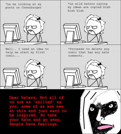 haters gonna hate psa making rage comics - 7754185984