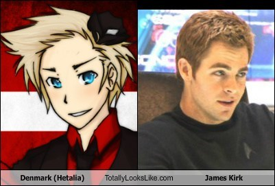 Denmark (Hetalia) Totally Looks Like James Kirk