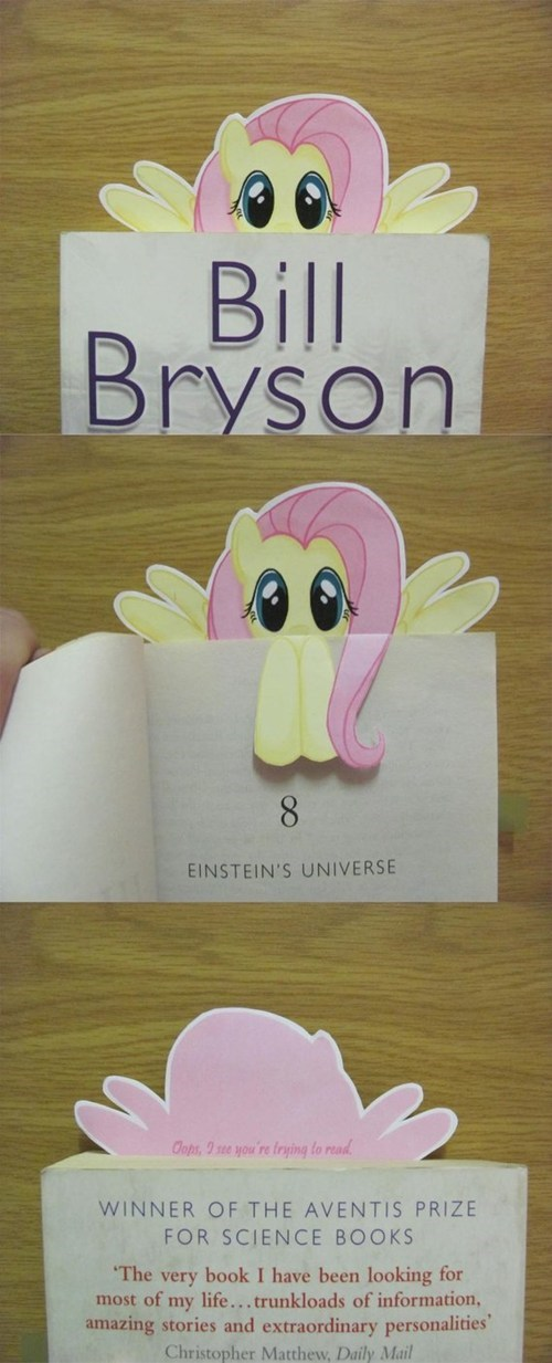 IRL books bookmarks fluttershy - 7754407168