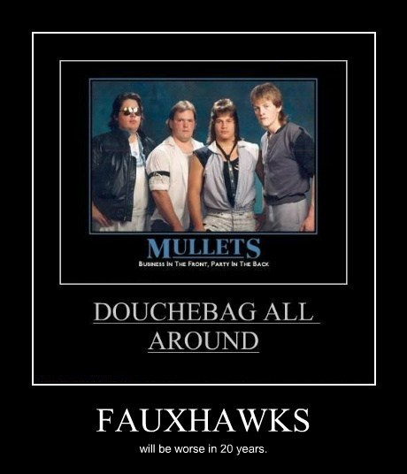 terrible douche mullet funny - 7754436608