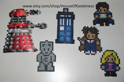 Fan Art,doctor who,perler beads