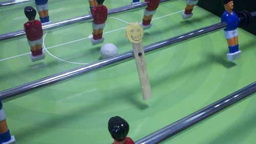 smiley face foosball funny there I fixed it