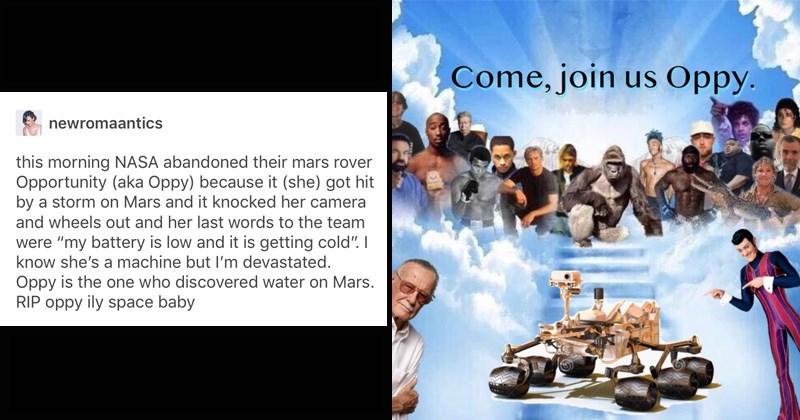 Sad mars rover sad memes nasa opportunity depressing oppy funny memes elon musk Astronomy Mars solar system curiosity exploration space Spirit - 7754501