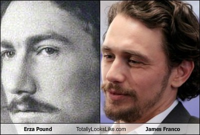 James Franco totally looks like ezra pound