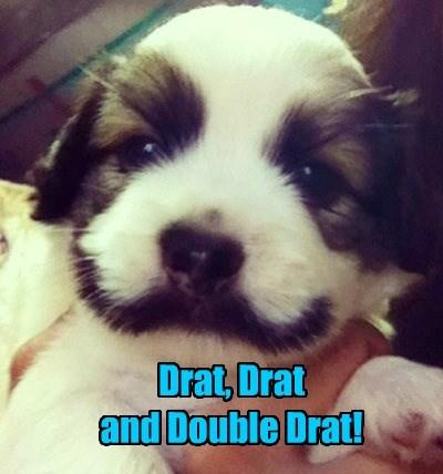 mustache dick dastardly drat funny - 7754735872