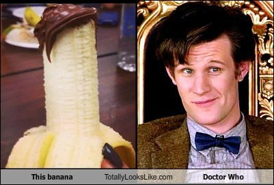 banana,Matt Smith,totally looks like,doctor who