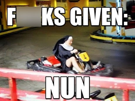 Another Nun Pun, This One an F1